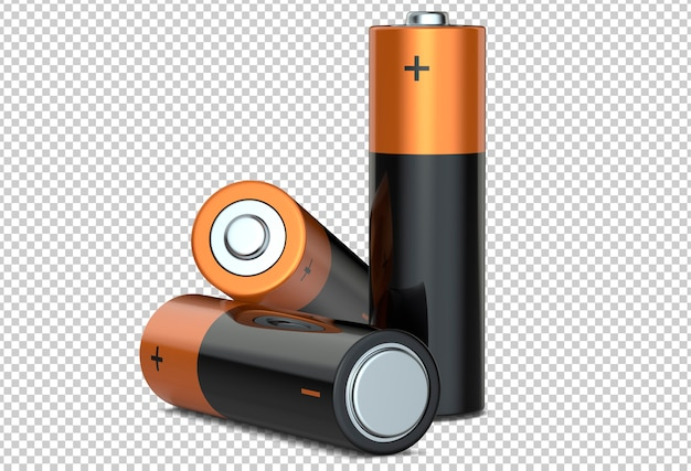 Trzy baterie alkaliczne aa