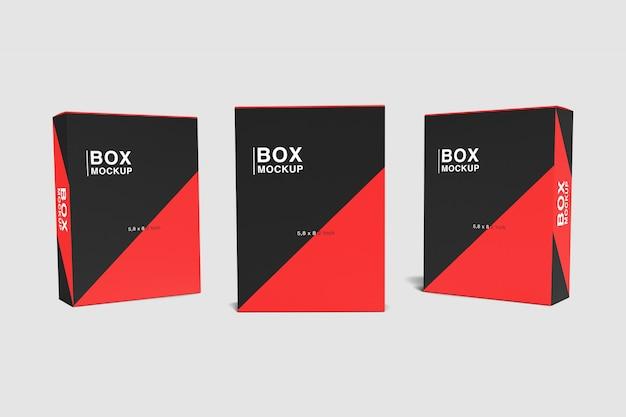 Trzy pudełka makiet
