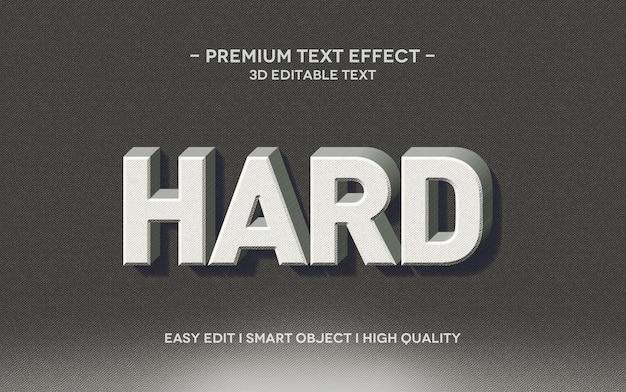 Twardy szablon efektu stylu tekstu 3d