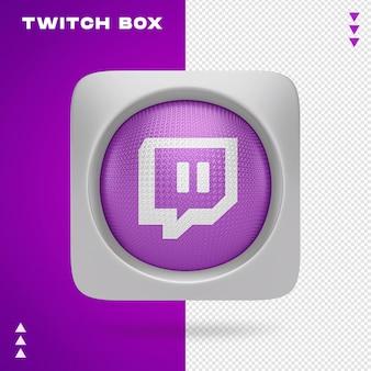 Twitch box w 3d renderin na białym tle