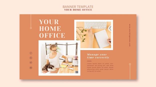 Twój baner biura domowego