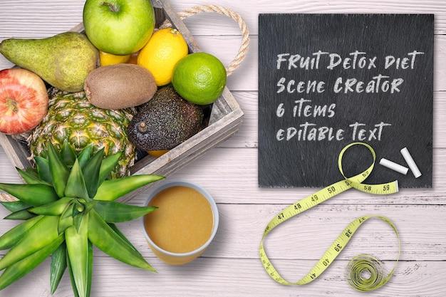 Twórca sceny diety detoksykującej owoc