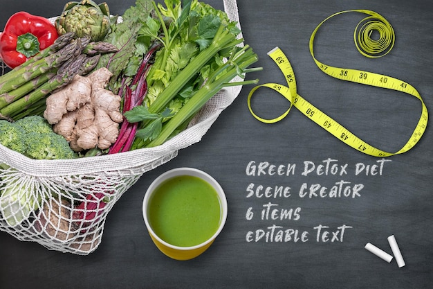 Twórca sceny diety detoksykującej warzywa