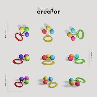 Twórca sceny zabawek dla dzieci