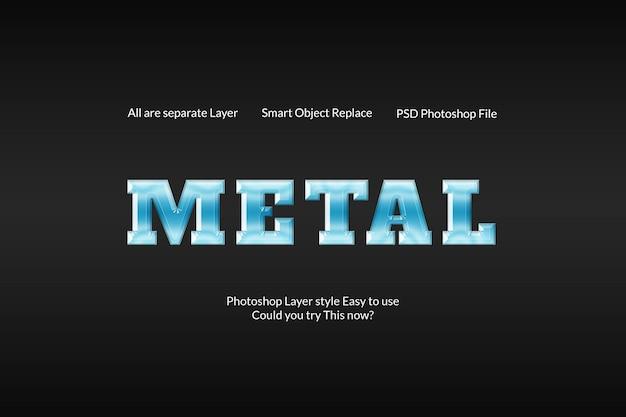 Twórczy nowoczesny efekt metalowy srebrny tekst