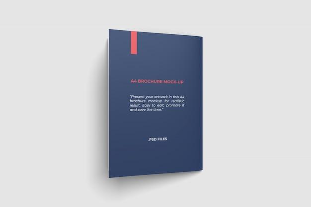 Tylna okładka a4 broszura makieta widok z góry