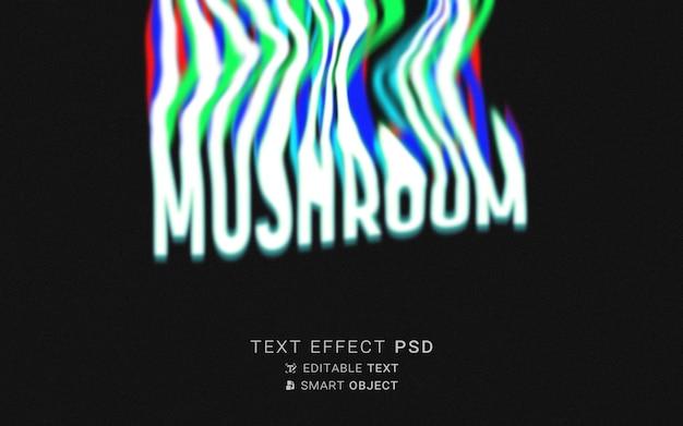 Typografia płynów z efektem tekstowym