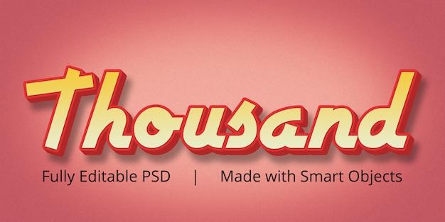 Tysiąc edytowalnych efektów stylów tekstowych w photoshopie