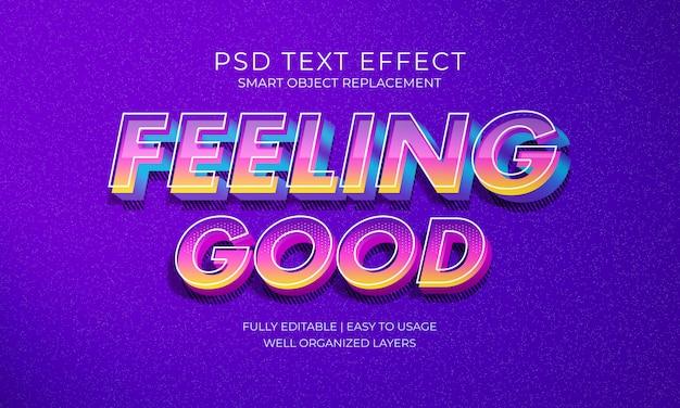 Uczucie dobrych efektów tekstowych