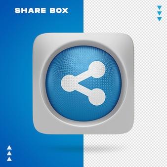 Udostępnij projekt pudełka w renderowaniu 3d