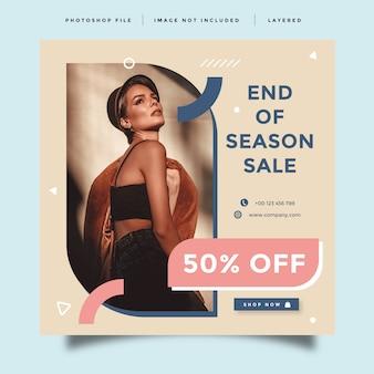 Układ banner promocji mody