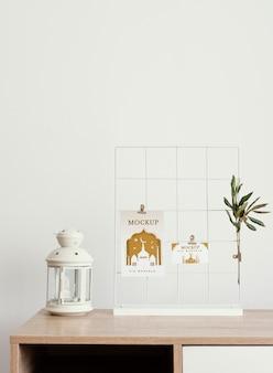 Układ makiet kart ramadan