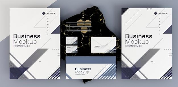 Układ makiet papeterii biznesowej