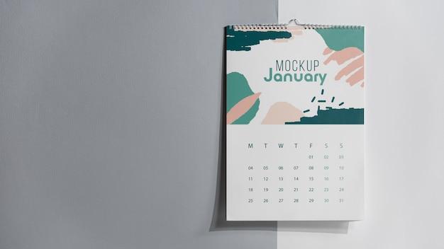 Układ makiety kalendarza w pomieszczeniu