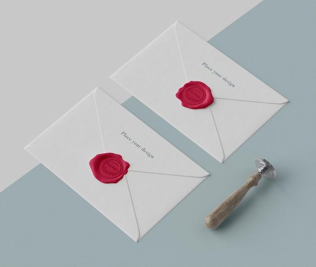 Układ makiety pieczęci na kopertę