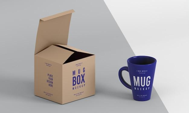 Układ makiety pudełka na kubki