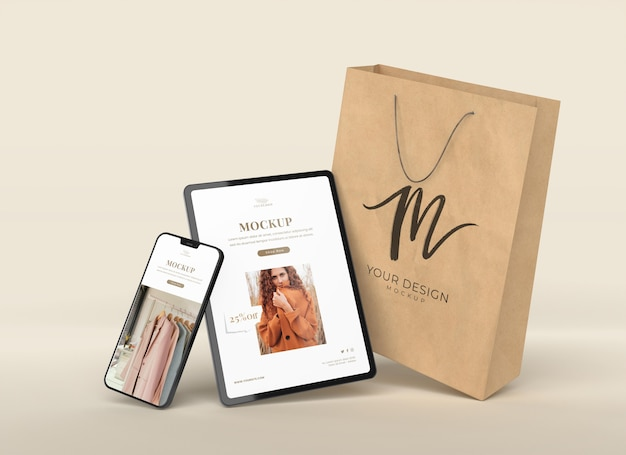 Układ z urządzeniami i torbą