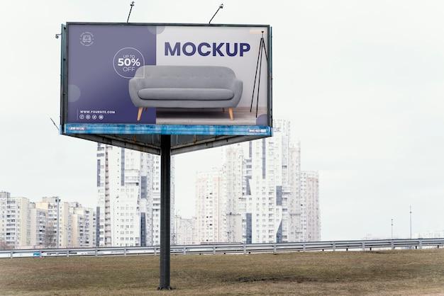 Uliczna makieta billboardu na zewnątrz