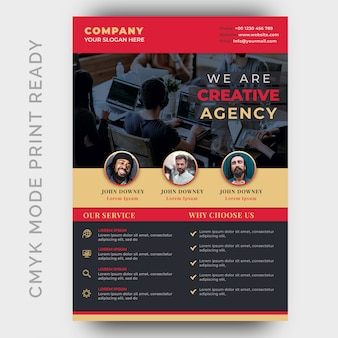 Ulotka biznesowa nowoczesnej agencji kreatywnej