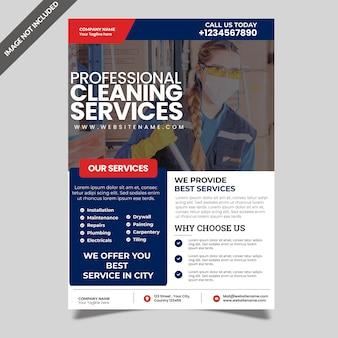 Ulotka dotycząca usług sprzątania