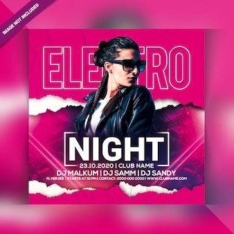 Ulotka electro night party