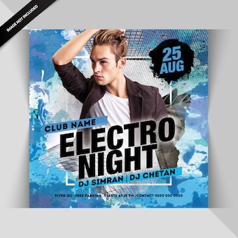 Ulotka electro night party