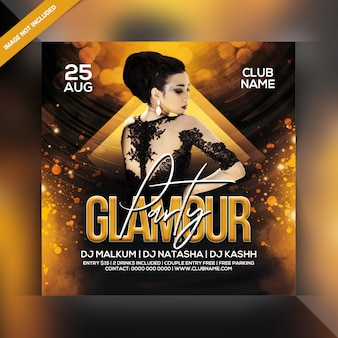 Ulotka glamour party