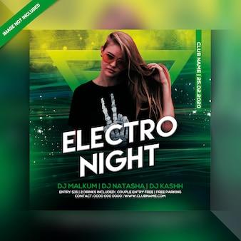 Ulotka imprezowa electro night