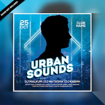 Ulotka imprezowa urban sound