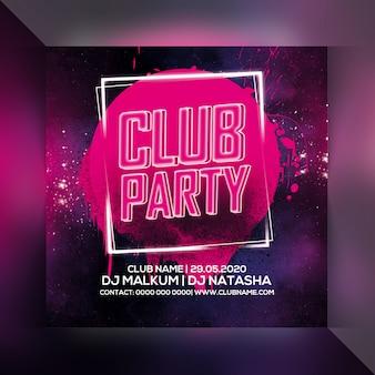 Ulotka imprezy klubowej