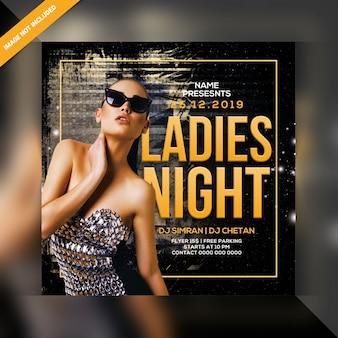 Ulotka ladies night party