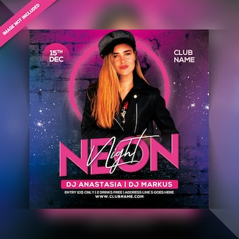 Ulotka neon night party
