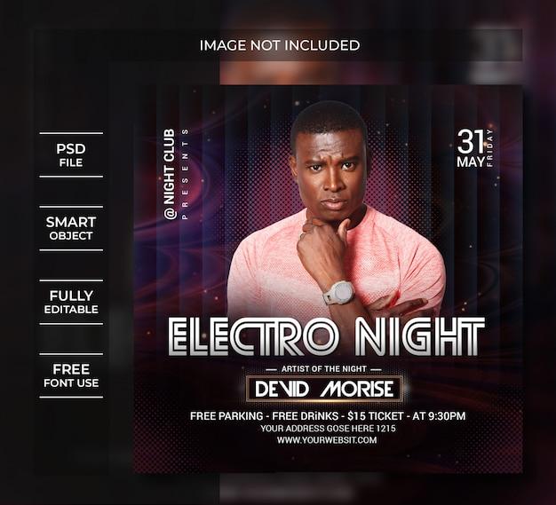 Ulotka nocna electro