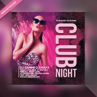 Ulotka nocnego klubu