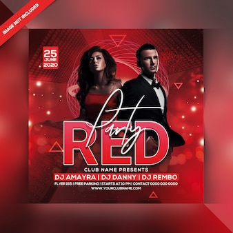 Ulotka red party
