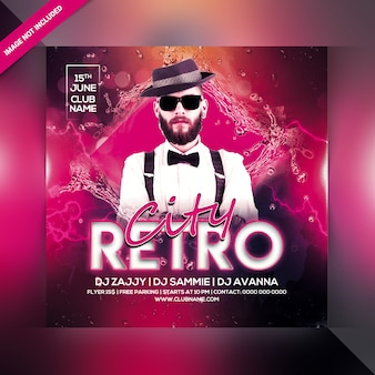 Ulotka retro city party
