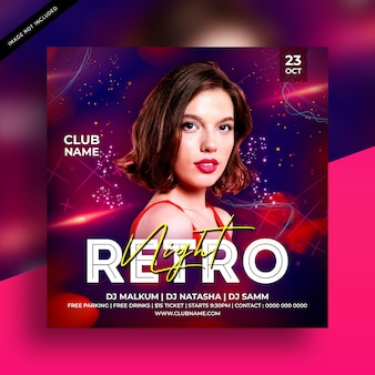 Ulotka retro night party