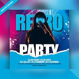 Ulotka retro party