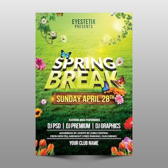 Ulotka spring break