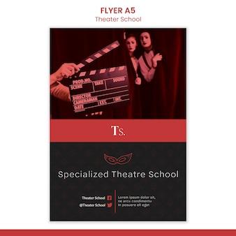 Ulotka szablonu szkoły teatralnej