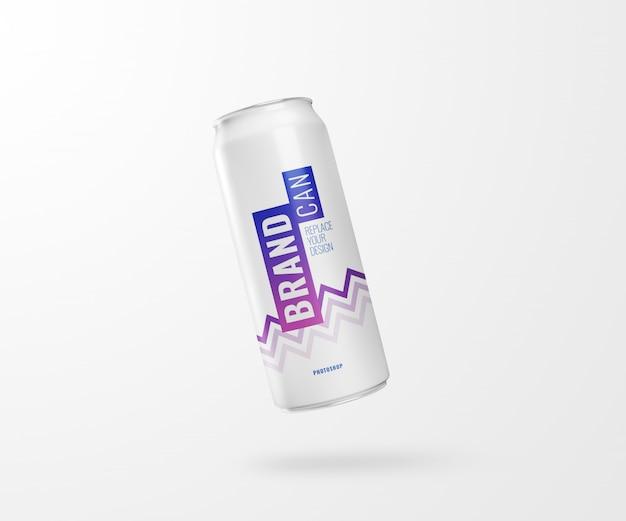 Ulotka szczupła soda może makieta realistycznego renderowania 3d