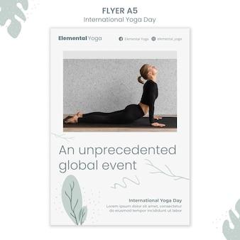 Ulotka z międzynarodowym dniem jogi