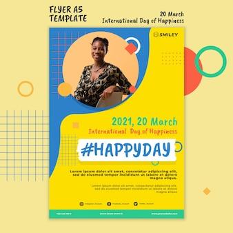 Ulotka z międzynarodowym dniem szczęścia