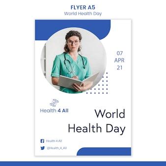 Ulotka Z Okazji światowego Dnia Zdrowia Darmowe Psd