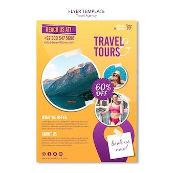 Ulotka z szablonem reklamy biura podróży