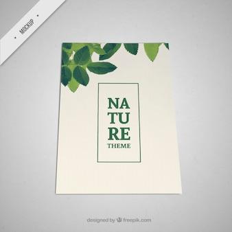 Ulotka z zielonymi liśćmi