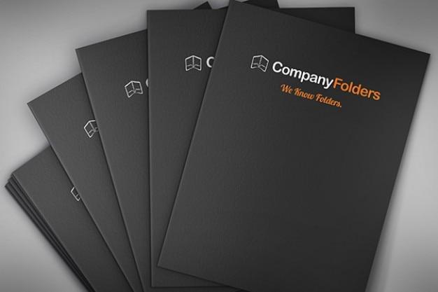 Ułożone biznes folderów makieta szablon psd