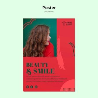 Unikalny projekt plakatu piękna