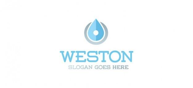 Upuść szablon vector logo