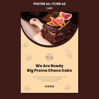 Uroczyste otwarcie szablonu ulotki fabryki ciasta